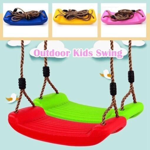 Children Fun Swing Outdoor Sport Toy Swings Plastic Garden Kids Hanging Seat Toys with Height Adjustable