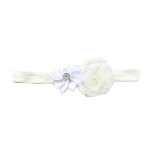 Children Hair Accessories With Diamonds Multi Angled Flowers Shabby Flowers Baby Hair Band Elastic Hair Band 2