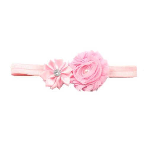 Children Hair Accessories With Diamonds Multi Angled Flowers Shabby Flowers Baby Hair Band Elastic Hair Band 4
