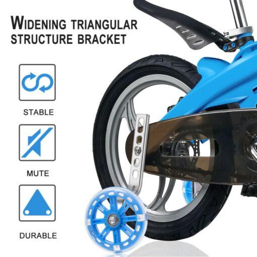 Children Kid Bicycle Bike Cycling Stabilisers Universal Bicycle Training Wheels For 12 20 Inch Bike Mute 2