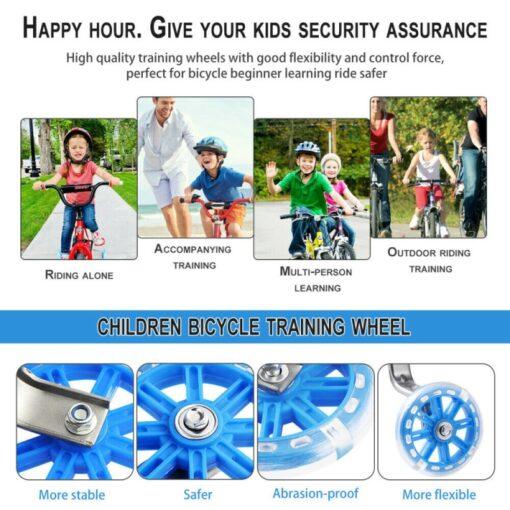 Children Kid Bicycle Bike Cycling Stabilisers Universal Bicycle Training Wheels For 12 20 Inch Bike Mute 3