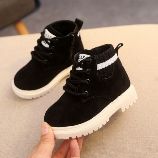 Children Martin Boots Girls Kids Baby Rubber Snow Boots Fashion Casual Toddler Boys Winter Warm Shoes 3