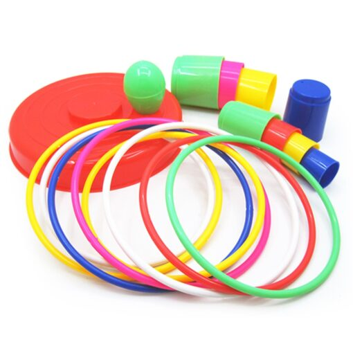 Children Outdoor Fun Toy Sports Circle Ferrule Stacked Layers Game Parent Child Interactive Ferrule Throwing Game 1