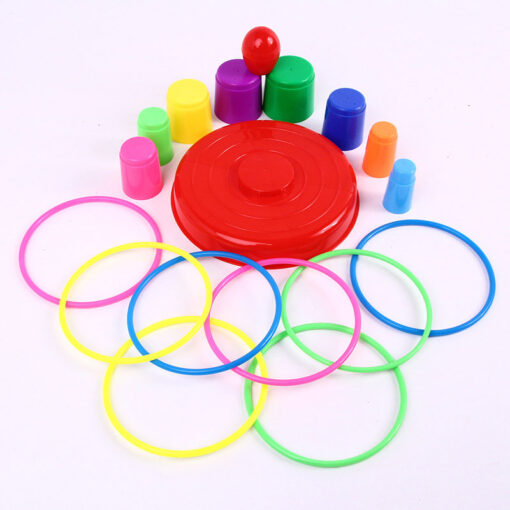 Children Outdoor Fun Toy Sports Circle Ferrule Stacked Layers Game Parent Child Interactive Ferrule Throwing Game 3