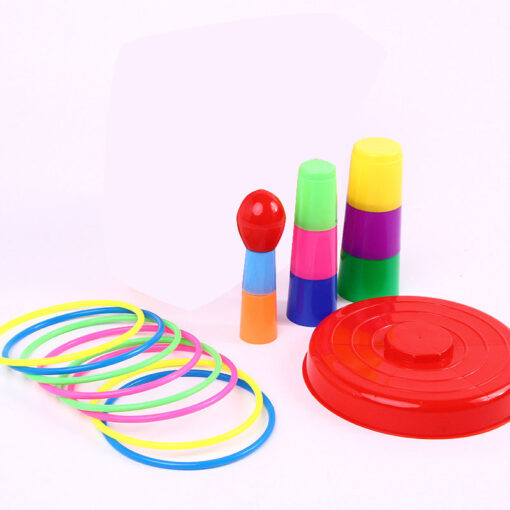 Children Outdoor Fun Toy Sports Circle Ferrule Stacked Layers Game Parent Child Interactive Ferrule Throwing Game 4
