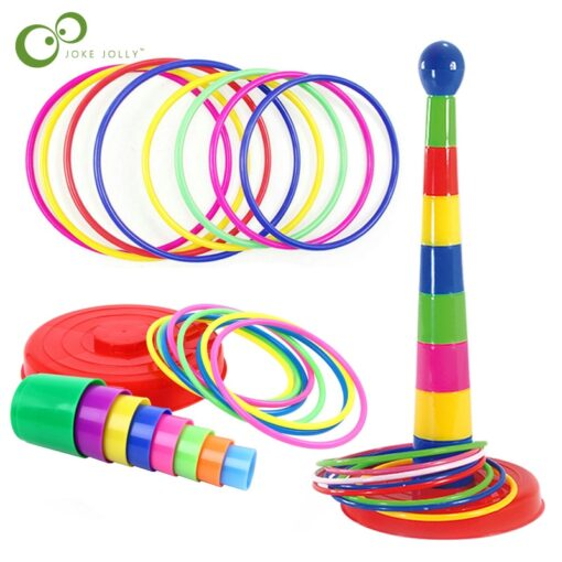 Children Outdoor Fun Toy Sports Circle Ferrule Stacked Layers Game Parent Child Interactive Ferrule Throwing Game