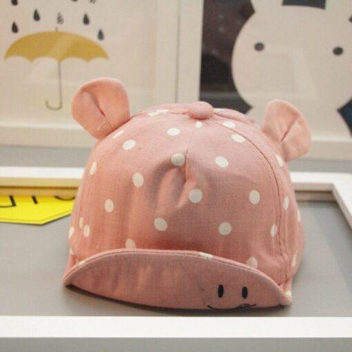 Children Sun Hats Toddler Cap Cute Baseball Cap Cotton Cute Polka Dot Sun Hat Mesh Breathable 2