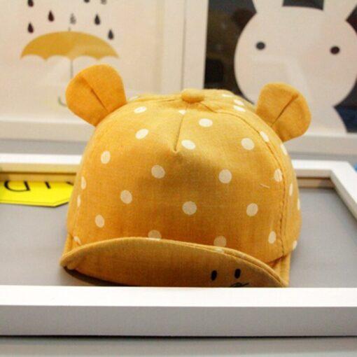 Children Sun Hats Toddler Cap Cute Baseball Cap Cotton Cute Polka Dot Sun Hat Mesh Breathable 3