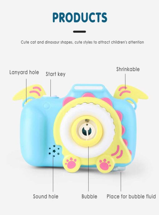 Children s Camera Bubble Machine Toy Electric Music Toy Outdoor Sports Bubbler Maker For Kids Birthday 1