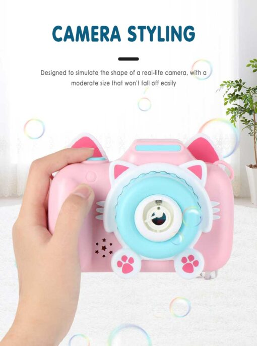 Children s Camera Bubble Machine Toy Electric Music Toy Outdoor Sports Bubbler Maker For Kids Birthday 2
