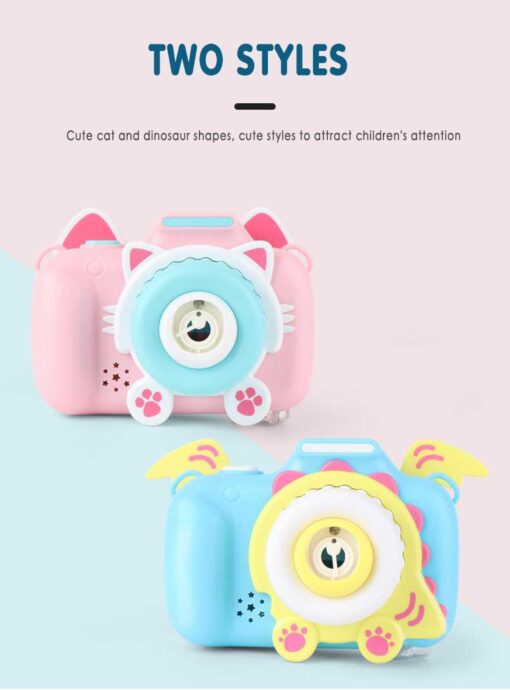 Children s Camera Bubble Machine Toy Electric Music Toy Outdoor Sports Bubbler Maker For Kids Birthday 3