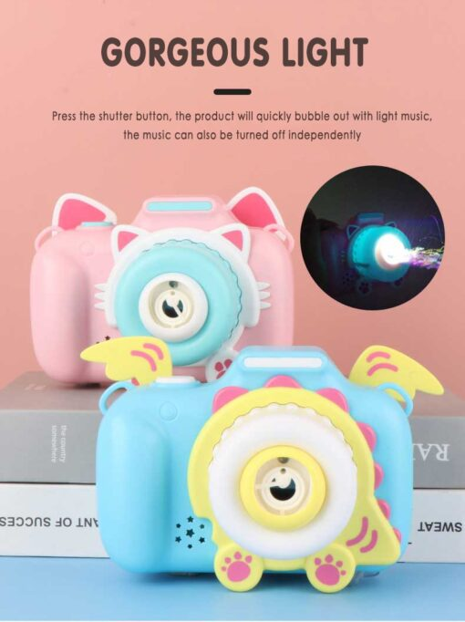 Children s Camera Bubble Machine Toy Electric Music Toy Outdoor Sports Bubbler Maker For Kids Birthday 4