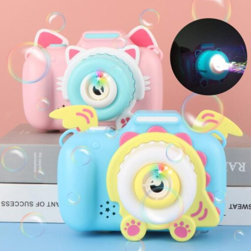 Children s Camera Bubble Machine Toy Electric Music Toy Outdoor Sports Bubbler Maker For Kids Birthday