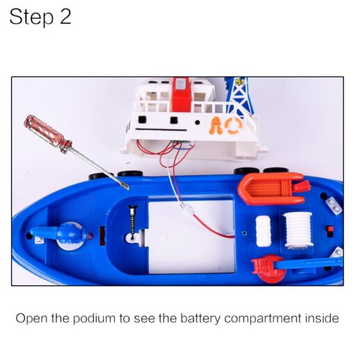 Children s Electric Music Fire Boat Fast paced Music Light Electric Ocean Rescue Fire Boat Remote 2