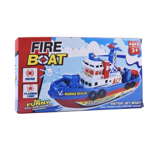 Children s Electric Music Fire Boat Fast paced Music Light Electric Ocean Rescue Fire Boat Remote 3