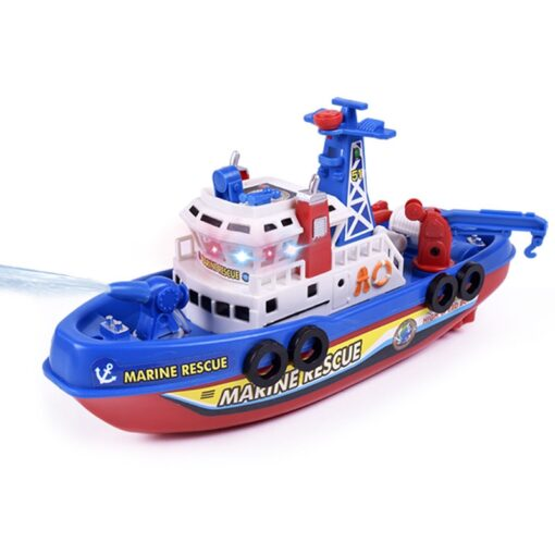 Children s Electric Music Fire Boat Fast paced Music Light Electric Ocean Rescue Fire Boat Remote