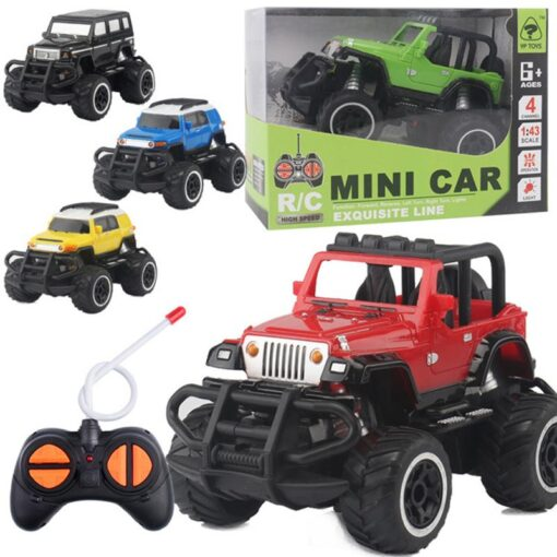 Children s Four way Remote Control Car Electric Wireless Remote Control Off road Vehicle Model Boy