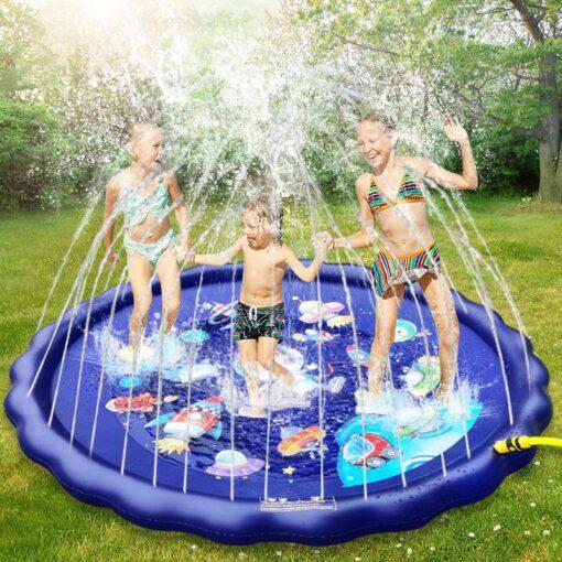Children s Inflatable Game Pad Water Toy Pad Baby Outdoor Garden Sprinkler Splash Pad Kids Beach 3