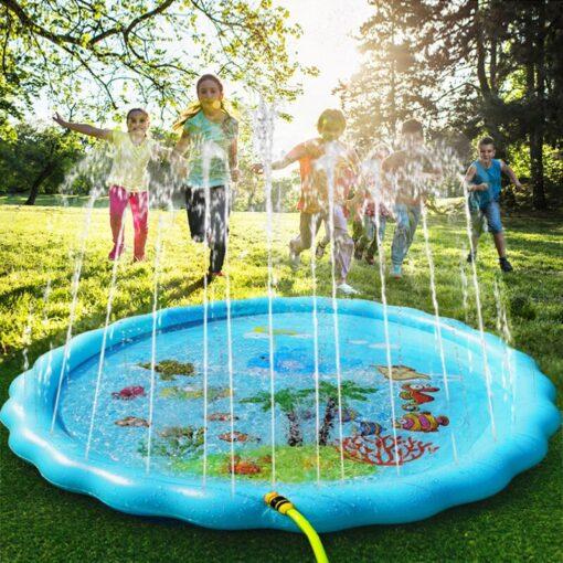 Children s Inflatable Game Pad Water Toy Pad Baby Outdoor Garden Sprinkler Splash Pad Kids Beach