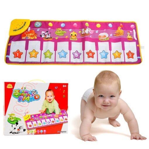 Children s Music Blanket Flash Piano Blanket Children s Multi function Music Game Carpet Dancing Mat 1