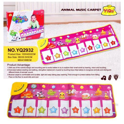 Children s Music Blanket Flash Piano Blanket Children s Multi function Music Game Carpet Dancing Mat 3