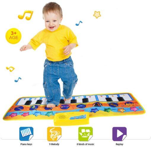 Children s Music Blanket Flash Piano Blanket Children s Multi function Music Game Carpet Dancing Mat
