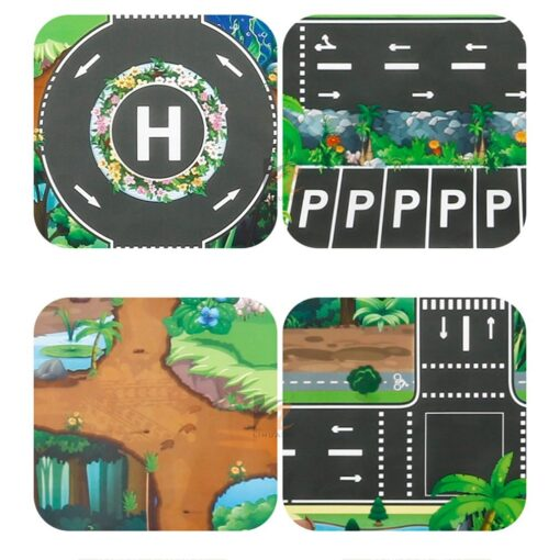 Childrens Toys Carry Game Pad 130x100 83x57cm Dinosaur World Traffic Parking Lot Funny Novelty Kids Toys 17