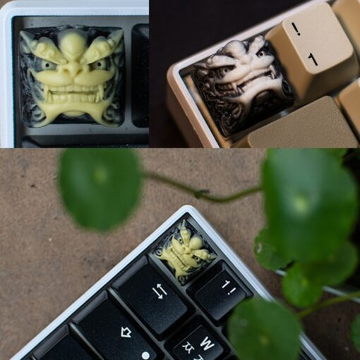 Chinese Style Lion Head Keycap Resin Fancy Key Cap For Cherry MX Keyboard New