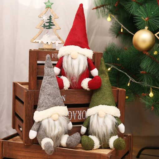 Christmas Decorations Faceless Old Man Dolls Window Decorations Nordic Style Decorative Dolls Exquisite 16