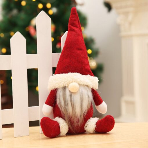 Christmas Decorations Faceless Old Man Dolls Window Decorations Nordic Style Decorative Dolls Exquisite 18