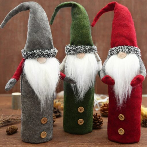 Christmas Rudolf Wine Bottle Cover Gifts Box Wine Champagne Bottle Bags Home Christmas Decoration Wine Bottle 1