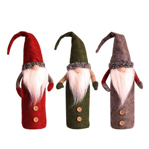 Christmas Rudolf Wine Bottle Cover Gifts Box Wine Champagne Bottle Bags Home Christmas Decoration Wine Bottle 2