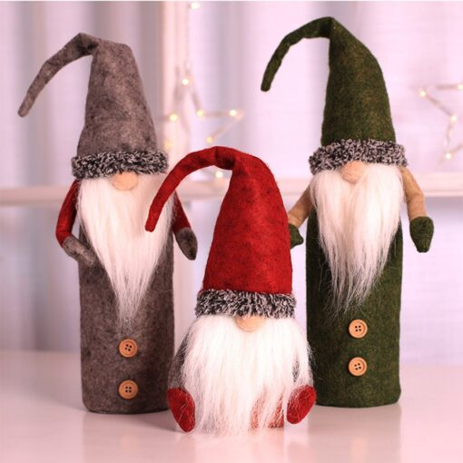 Christmas Rudolf Wine Bottle Cover Gifts Box Wine Champagne Bottle Bags Home Christmas Decoration Wine Bottle 6