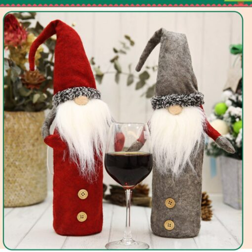 Christmas Rudolf Wine Bottle Cover Gifts Box Wine Champagne Bottle Bags Home Christmas Decoration Wine Bottle 7