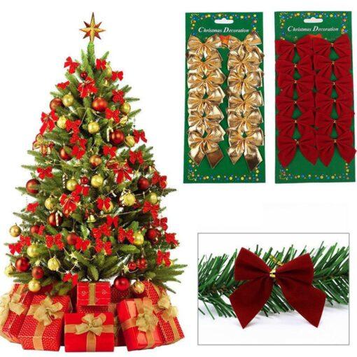 Christmas Tree Decorations Tree Ornaments Lovely Cute Christmas Bow Christmas Party Decoration Baubles