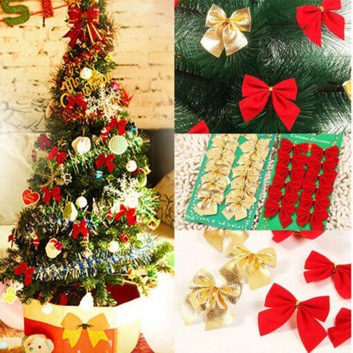 Christmas Tree Decorations Tree Ornaments Lovely Cute Christmas Bow Christmas Party Decoration Baubles 6