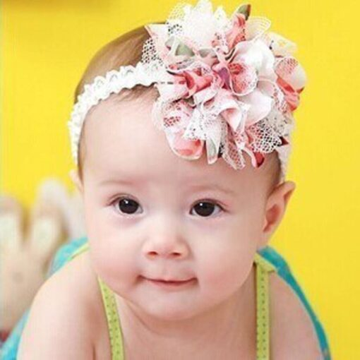 Clearance Sale Baby Flower Headband Girl Lace Infant Hair Weave Baby Accessories