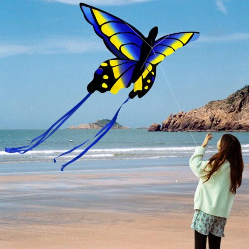 Colorful Beautiful Butterfly Kite Outdoor Games and Activities Single Line Kite Kids Flying Kite for Adults 2
