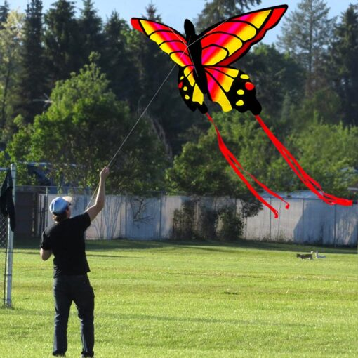 Colorful Beautiful Butterfly Kite Outdoor Games and Activities Single Line Kite Kids Flying Kite for Adults 3
