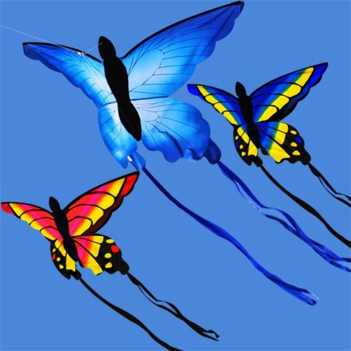 Colorful Beautiful Butterfly Kite Outdoor Games and Activities Single Line Kite Kids Flying Kite for Adults