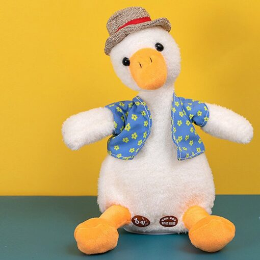 Come On Duck Net Red Duck Sand Sculpture Toy Can Learn To Talk And Play Music 2