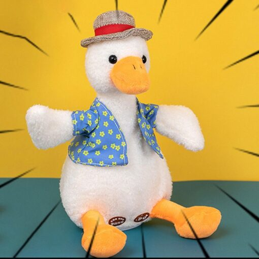 Come On Duck Net Red Duck Sand Sculpture Toy Can Learn To Talk And Play Music 4