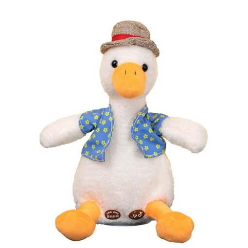 Come On Duck Net Red Duck Sand Sculpture Toy Can Learn To Talk And Play Music 7