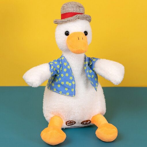 Come On Duck Net Red Duck Sand Sculpture Toy Can Learn To Talk And Play Music 8