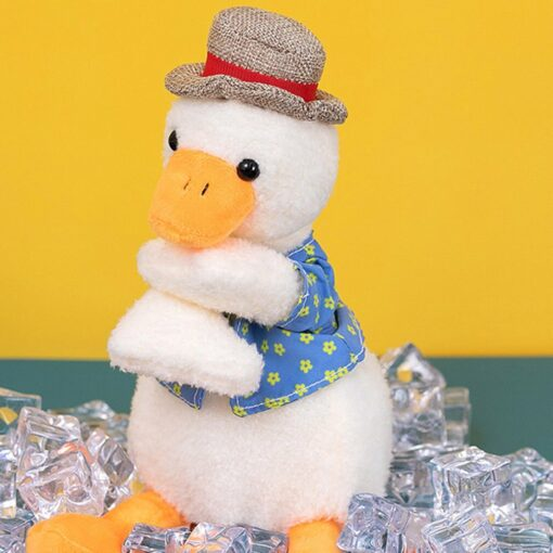 Come On Duck Net Red Duck Sand Sculpture Toy Can Learn To Talk And Play Music 9