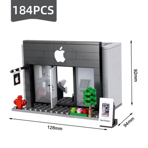 Compatible Toy City Mini Street Cafe Food Retail Convenience Store Architecture Building Blocks Sets Toys For 2
