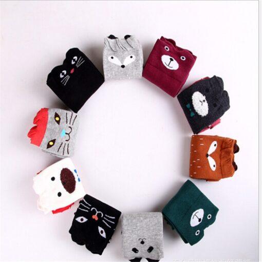 Cotton Cartoon Children s Baby Fox Socks With Bear Knee Highs Long Cute Infantil Kids for 1