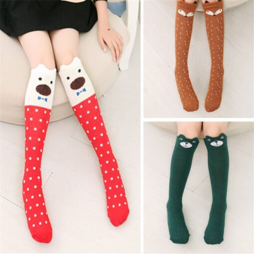 Cotton Cartoon Children s Baby Fox Socks With Bear Knee Highs Long Cute Infantil Kids for 3