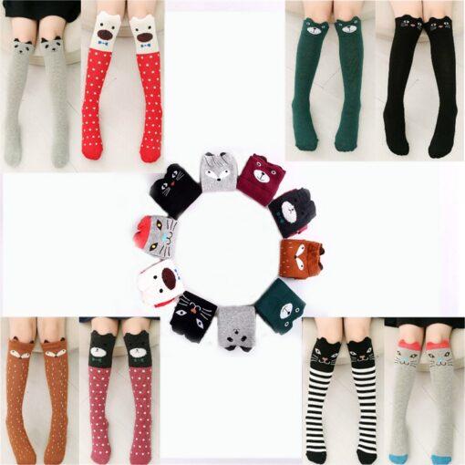 Cotton Cartoon Children s Baby Fox Socks With Bear Knee Highs Long Cute Infantil Kids for 5