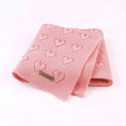 Cotton Knitted Baby Blankets Newborn For Boys Girls Kids Blanket Stroller Bedding Quilts Wrap Infant Muslin 1